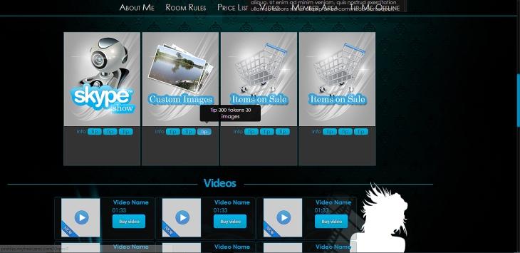 Alexa MyFreeCams profile template
