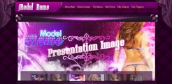 Custom MyFreeCams profile design Jaelyn - Header