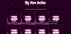 Custom MyFreeCams profile design Jaelyn - Store section