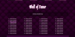 Custom MyFreeCams profile design Jaelyn - Wall of Fame aka Top Tippers